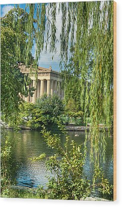 A View Of The Parthenon 8 Wood Print by Douglas Barnett