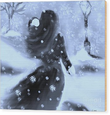 A Winters Walk Wood Print by Lori  Lovetere