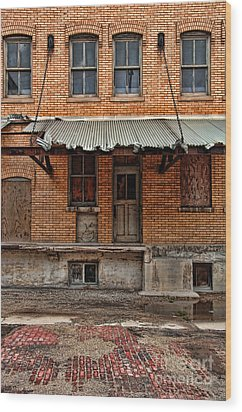 Abandoned Warehouse Wood Print by Jill Battaglia