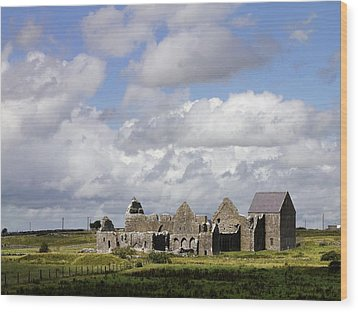 Abbeyknockmoy, Cistercian Abbey Of Wood Print by The Irish Image Collection
