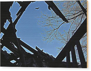 Above It Wood Print