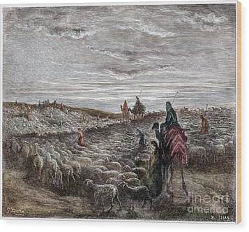 Abraham Entering Canaan Wood Print by Granger