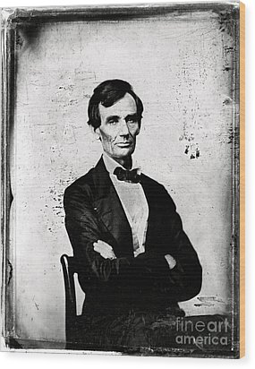 Abraham Lincoln, 16th American President Wood Print by Photo Researchers