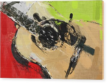 Abstract Acoustic Wood Print by David G Paul