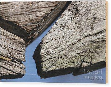 Abstract With Angles Wood Print