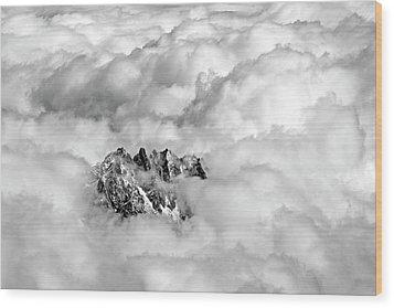 Aiguille Du Midi Wood Print by Ellen van Bodegom