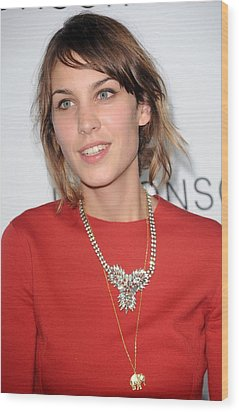 Alexa Chung At Arrivals For The Wood Print by Everett