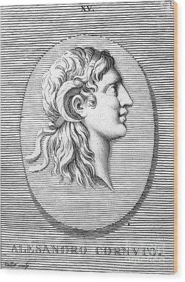 Alexander The Great (356-323 B.c.) Wood Print by Granger