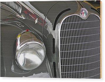 Wood Print featuring the photograph Alfa Romeo by Anna Ruzsan