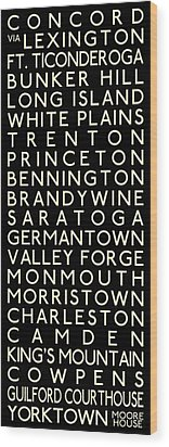 American Revolution Wood Print by Chris Brown