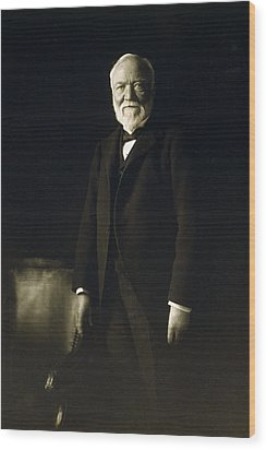 Andrew Carnegie, April 5, 1913 Wood Print by Everett