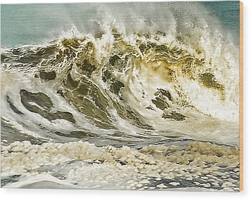 Angry Sea 3 Wood Print by Dale Stillman
