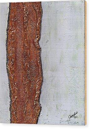Angst Wood Print by The Art Of JudiLynn