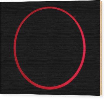 Annular Solar Eclipse Wood Print by Laurent Laveder