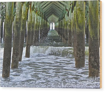 Wood Print featuring the photograph Apache Pier by Eve Spring