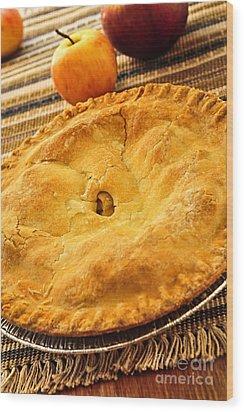 Apple Pie Wood Print by Elena Elisseeva