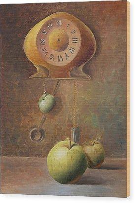 Apple Time Wood Print by Elena Melnikova
