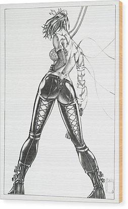April 19th - The Cyborg Wood Print by Sean Smith