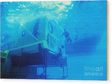 Aquarius Underwater Ocean Laboratory Wood Print by Science Source