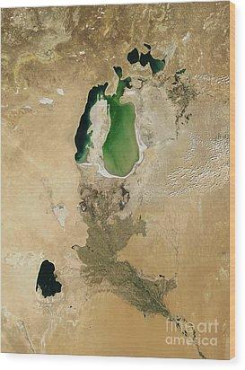 Aral Sea Wood Print by NASA / Science Source