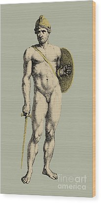 Ares, Greek God Of War Wood Print by Photo Researchers