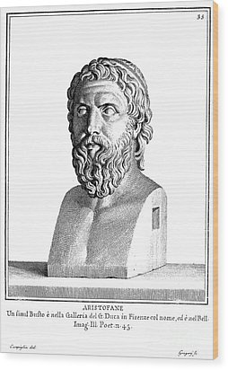 Aristophanes (c450-c388 B.c.) Wood Print by Granger