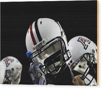 Arizona Football Helmets Wood Print by University of Arizona