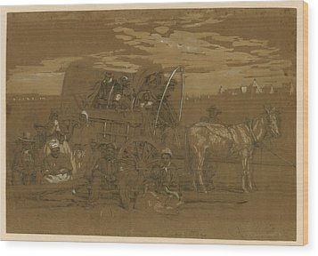 Arrival Of An African American Family Wood Print by Everett