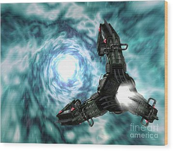 Artists Concept Of The Assimilators Wood Print by Rhys Taylor