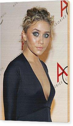 Ashley Olsen Wearing Calvin Klein Wood Print by Everett