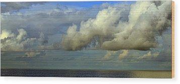 Atmospheric Lighting Wood Print by Fraida Gutovich