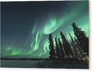 Aurora Borealis Wood Print by Michael Ericsson