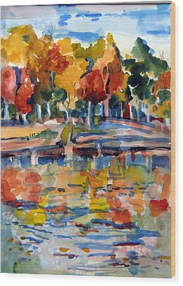 Autumn Color Wood Print by Mindy Newman