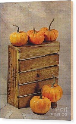 Autumn Still Life Wood Print by Judi Bagwell