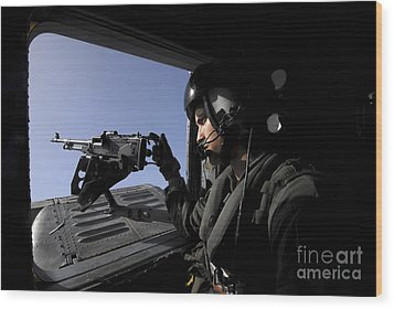 Aviation Warfare Systems Operator Wood Print by Stocktrek Images