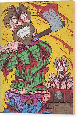 Axe Me Another Wood Print by Anthony Snyder
