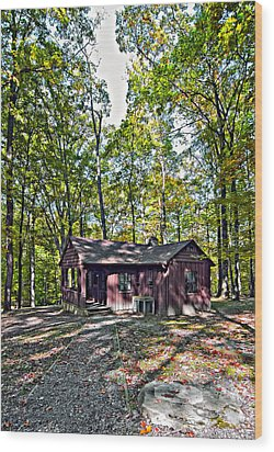 Babcock Cabin Wood Print by Steve Harrington