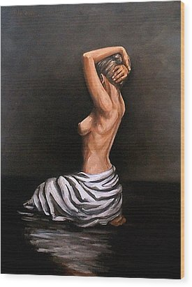 Back Nude Wood Print