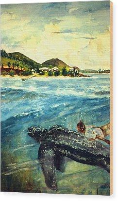 Back To Culebra Island Puerto Rico Wood Print by Estela Robles