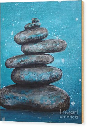 Balance II Wood Print by Susan Fisher