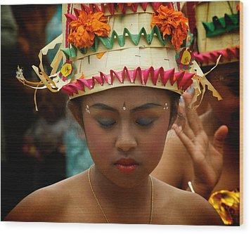 Balinese Dancer Wood Print by Ari Saaski