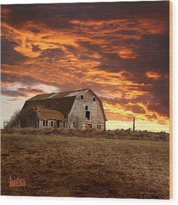 Barn On Highway 21 Wood Print