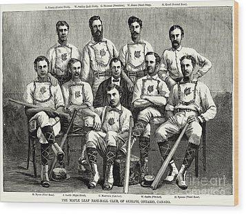 Baseball: Canada, 1874 Wood Print by Granger