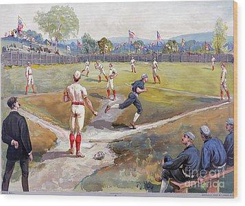 Baseball Game, C1887 Wood Print by Granger