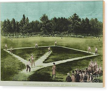 Baseball In 1846 Wood Print by Omikron