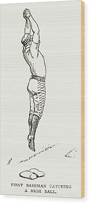 Baseball Player, 1889 Wood Print by Granger