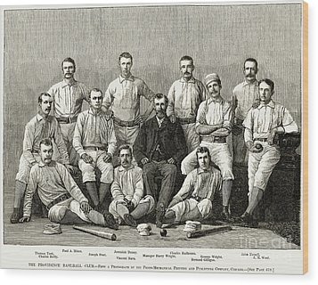 Baseball: Providence, 1882 Wood Print by Granger