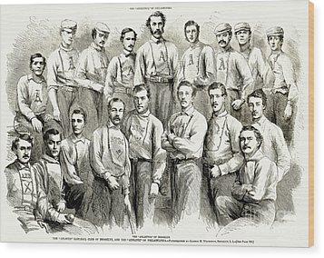 Baseball Teams, 1866 Wood Print by Granger