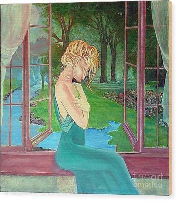 Beautiful Woman Wood Print by Kostas Dendrinos
