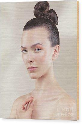 Beautiful Young Woman Portrait Wood Print by Oleksiy Maksymenko